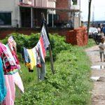 ネパール流洗濯の干し方-ネパールあるある